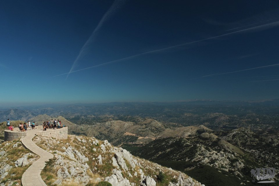View point platform in the Lovcen mountains