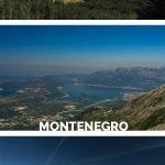 Drei Landschaftsbilder mit Bergen mit dem Text: Wandern im Lovcen Nationalpark