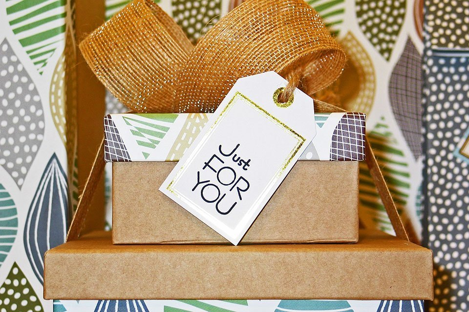 Gifts with a note: Just for you