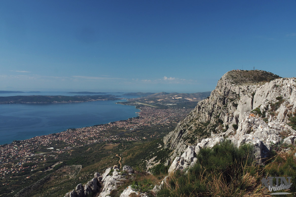 Kozjak mountain ridge with a coastal scenery