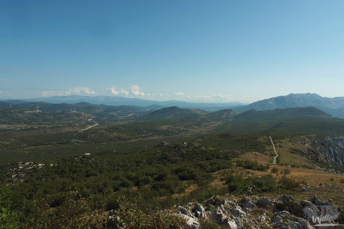 View of meadows and mountains from Kozjak ridge