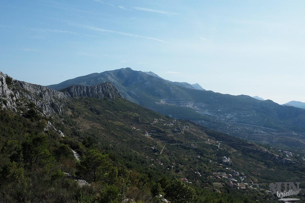 Mountain scenery close to Klis fortress in Croatia