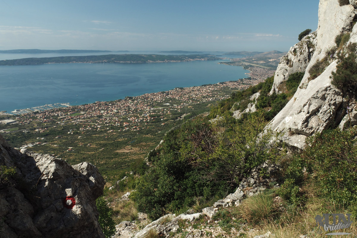 View of the coast near Split from a hiking trail