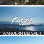 Bilder von Berg- und Küstenlandschaft mit dem Text: Kozjak - Wandern bei Split - Kroatien