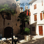 Mediterranean old town with the text: Kotor in one day